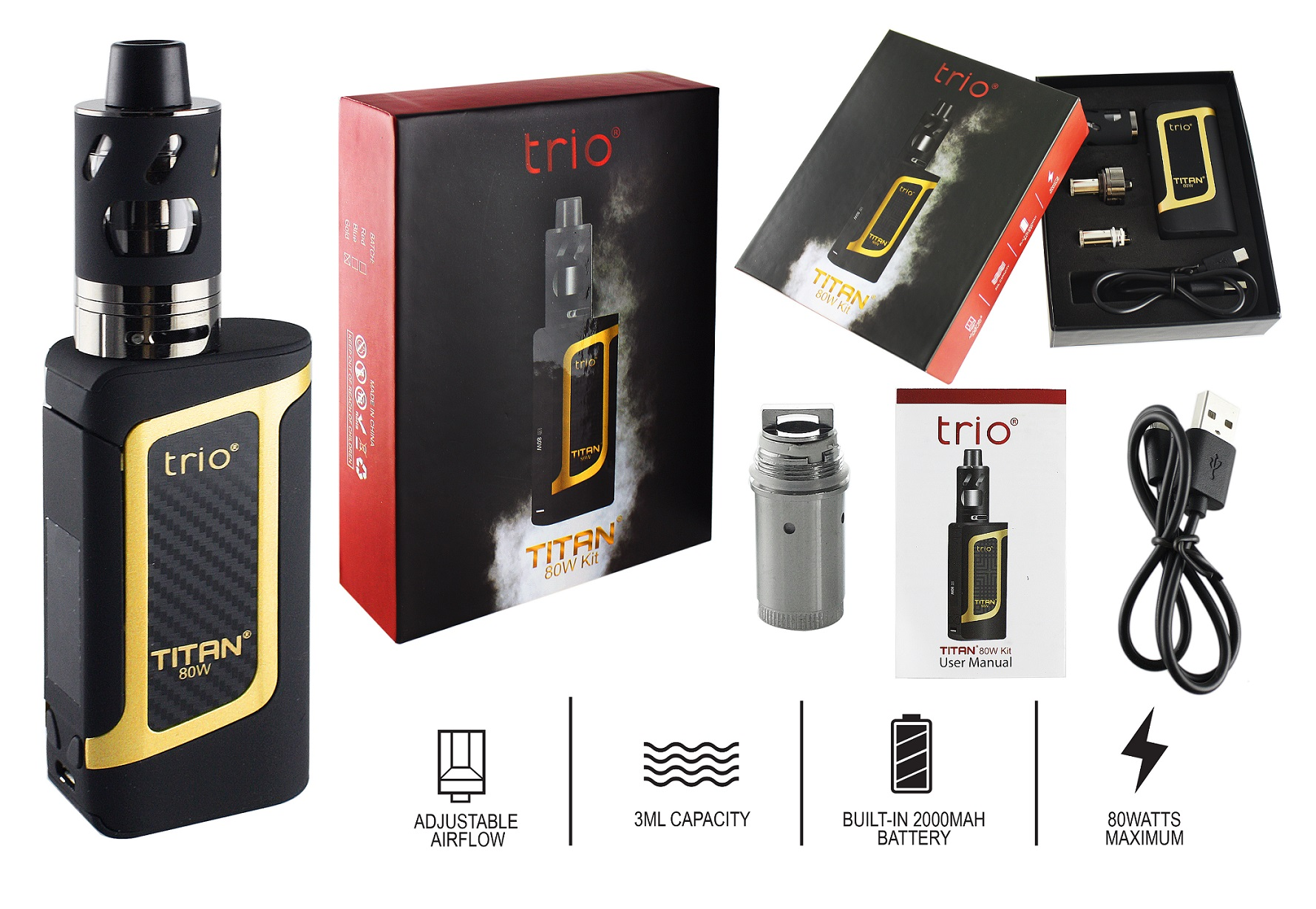 Trio Titan 80W Kit yellow