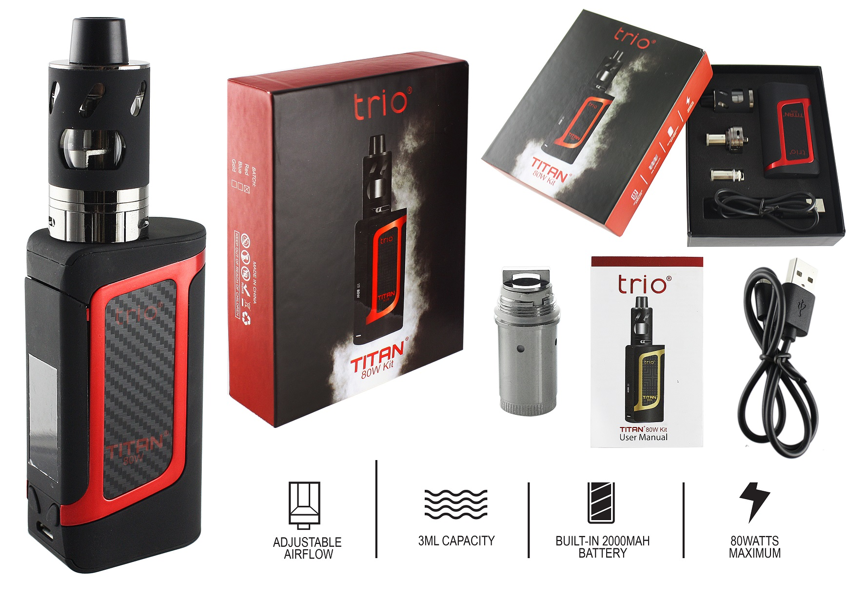 Trio Titan 80W Kit red